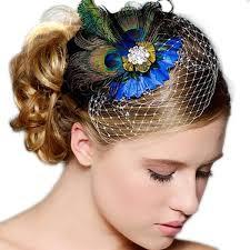 feather hair accessories peacock feather rhinestone hair pin clip party wedding hair