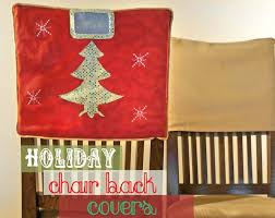 christmas chair back covers diy chair back covers a how to tutorial andrea s notebook