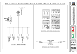 rating of battery wiring diagram components