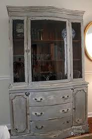 Just Cabinets And More by Distressed China Cabinet Products Created By Blohm Hill Designs