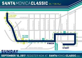 Map Of Santa Monica Santa Monica Classic 5k 10k Santa Monica Classic
