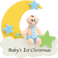 rudolph me baby boy on cloud personalized ornament 912b house