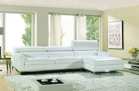 Modern White Bonded Leather Sectional Sofa Modern Bonded Leather Sectional Sofa