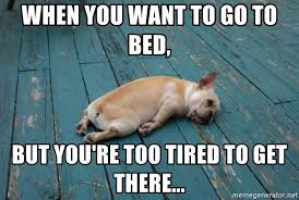 Tired Meme - when you want to go to bed but you re too tired to get there