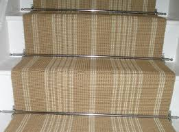Silver Stair Rods by Striped Stair Runner A Monochrome Striped Runner Could Make A