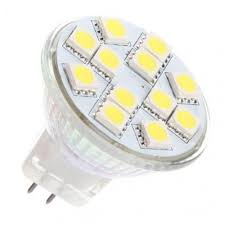 ac dc 12v 24v 3w 12x 5050 cluster led light bulb mr11 gu4 bi pin