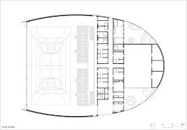 Ground Floor Plan Gallery Of Lardy Sports Hall Explorations Architecture 12