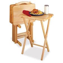 walmart tv table stand winsome natural 5 piece rectangular tv table set walmart com fantasy