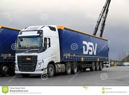 new volvo semi truck white volvo fh 500 semi truck at demo drive editorial photo