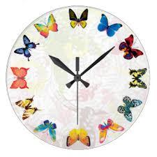 Butterfly Kids Room by Kids Room Wall Clocks Zazzle