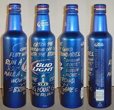 Bud Light Alcohol Content Football Bottles