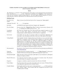 Term Sheet Template Loan Term Sheet Template Write A Cv