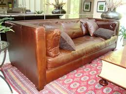 leather tuxedo sofa in the living room stylish streamlined