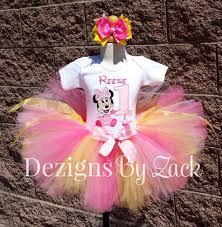 1st birthday tutu baby minnie mouse 1st birthday tutu pink yellow