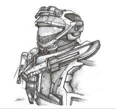 halo reach spartan pen sketch by inktheory design on deviantart
