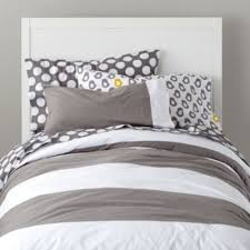 Land Of Nod Girls Bedding by Organic New Grey And White Dot Sheet Set Wide Stripes
