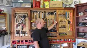Pegboard Cabinet Doors by Hanging Tool Cabinet With Sliding Doors Youtube