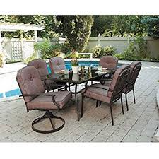 Outdoor Dining Room Furniture Amazon Com 7 Piece Patio Dining Set Seats 6 Enjoy The Outdoors