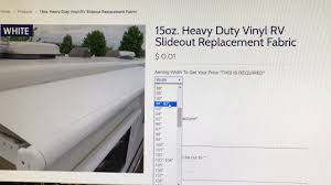 Rv Slide Out Topper Awning Replacement Fabric How To Order On Tough Top Awning U0027s Website Youtube