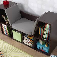 kidkraft bookcase with reading nook white walmart com