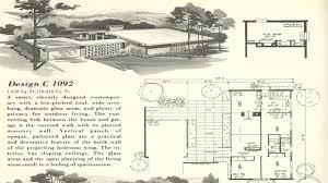 mid century style house plans 1950s modern books floor plan 6