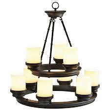 Lantern Chandelier Lowes Shop Allen Roth 9 Light Chandelier At Lowes Com