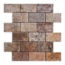 Tumbled Travertine Subway Tile Backsplash Houzz - Travertine mosaic tile backsplash