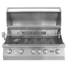 lion 40 inch built in gas grill l90000 stainless steel natural
