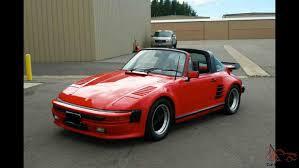porsche 930 turbo wide body 911 targa slant nose wide body classic no reserve