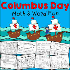 columbus day math and word fun u2013 the best of teacher entrepreneurs