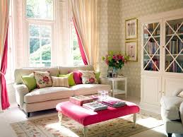 feminine living room white sofa big window book cabinet dweef