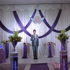 wedding drapes aliexpress buy 2016 purple and white wedding backdrop with