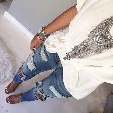 silver boho necklace images Style guide for chunky necklaces jpg