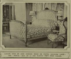 Edwardian Homes Interior Bed Used By King Edward Vii When Staying At Polesden Lacey Home