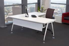 furniture white corner office desk with shelf plus swivel chair