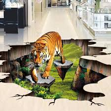 online get cheap outdoor wall murals aliexpress com alibaba group custom floor wallpaper waterproof self adhesive pvc wall sticker tiger outdoors 3d floor painting wall mural wall paper floor