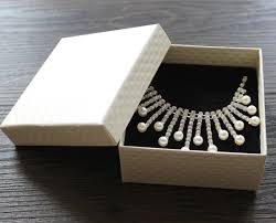diamond box necklace images Classic bracelet box wholesale custom diamond pattern beige suit jpg