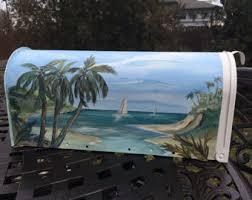 themed mailbox palm tree mailbox etsy