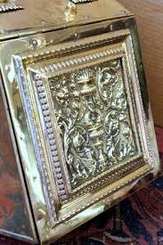 fabulous antique hand chased brass u201cadam u201d style coal hod