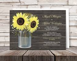 post wedding reception invitations sunflower reception only invitations country rustic sunflower