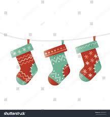 new years socks illustration christmas socks idea new year christmas stock vector