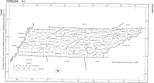 Tennessee County Map by Maps And Census Records