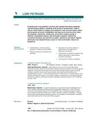 Resume Templates For Teachers Free Special Education Teacher Resume Samples Good Teacher Resume