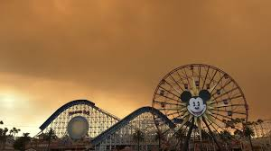Six Flags Magic Mountain Fire Disneyland Takes On Eerie Orange Glow Amid Southern California