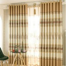 Rustic Country Curtains Rustic Tree Pattern Khaki Polyester Insulated Country Curtains