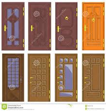 Home Door Design Download by Classic Interior And Front Wooden Doors Vector Royalty Free