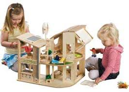 Dollhouse Plans Unfinished Kits U2013 by Plan Toys Green Dollhouse With Furniture Ever X Wood