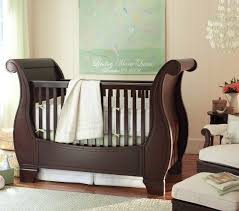 Sleigh Bed Cribs 49 Pottery Barn Baby Cribs Sleigh Fixed Gate Crib Pottery