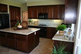 center brown wooden kitchen island using white marble top on light