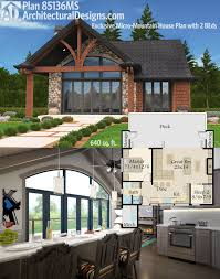 plan 69619am 3 bed modern house plan with open concept layout architectural designs exclusive micro mountain house plan 85136ms gives you 2 beds and 640 square